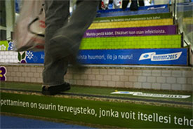 Finnish residents have climb over Pfizer's health campaign