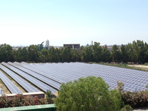 Pfizer's new solar power system in Catania, Sicily, covers more than four acres at the site