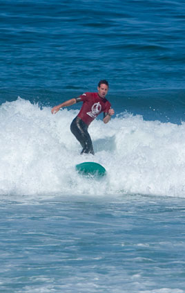 Surf's up for Kevin Fleet, Senior Director, Global Data Management, Finance and Business Operations, Business Technology