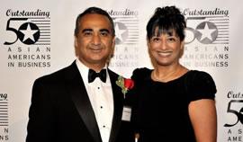 Award winners Bob Miglani and Ami Shah
