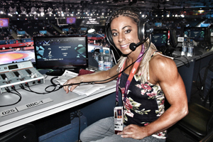 Evans, a Pfizer colleague in the U.K., provided commentary on Olympic wrestling and weight-lifting events for the BBC