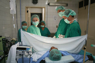 Surgeries are handled by a Spanish team of volunteer physicians